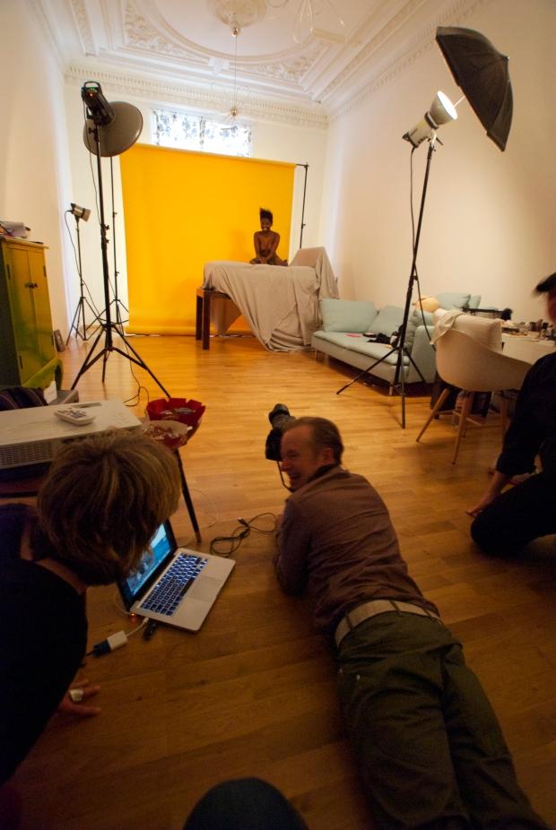 Fotoshooting im Studio Leipzig für Gustav Obermeyer GmbH